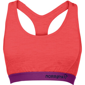 Norrøna Wool Crop Top Damen crisp ruby